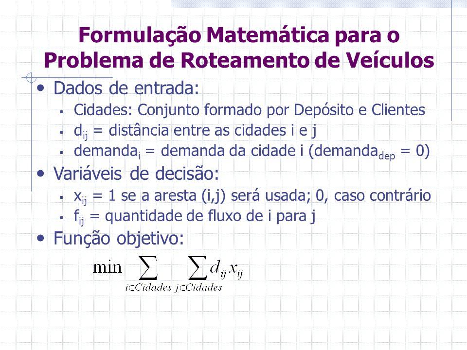 Formulação Matemática para o Problema de Roteamento de Veículos 1.