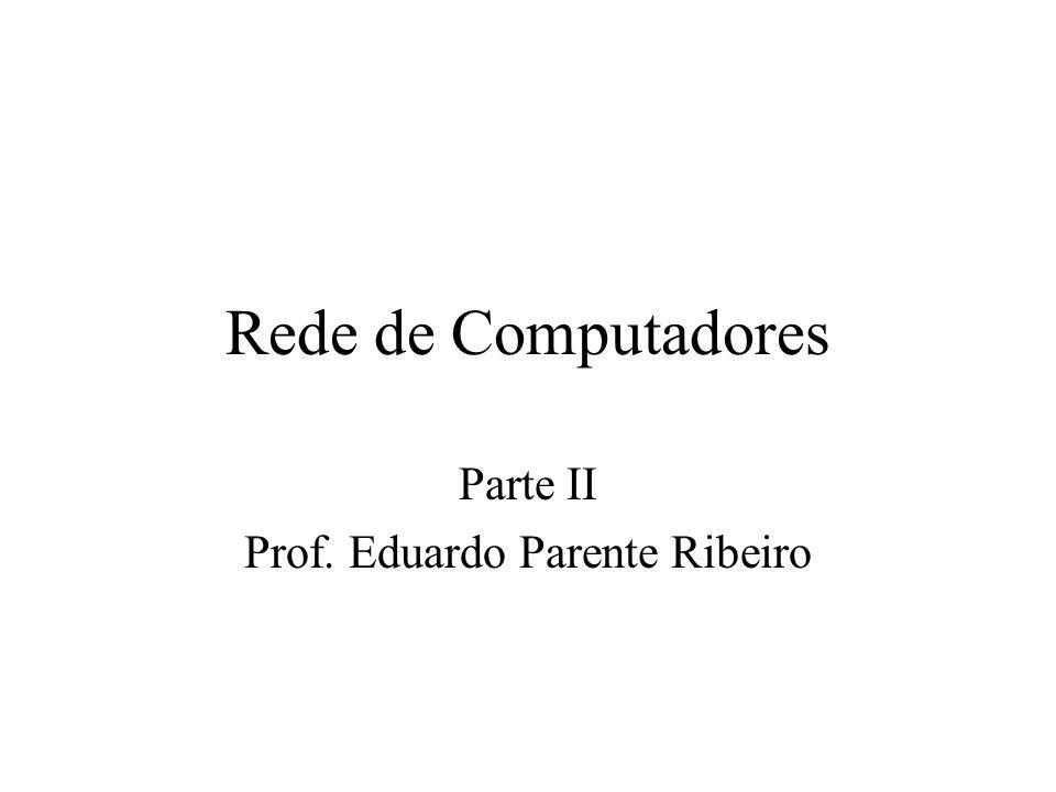Rede de Computadores Parte II Prof. Eduardo Parente Ribeiro