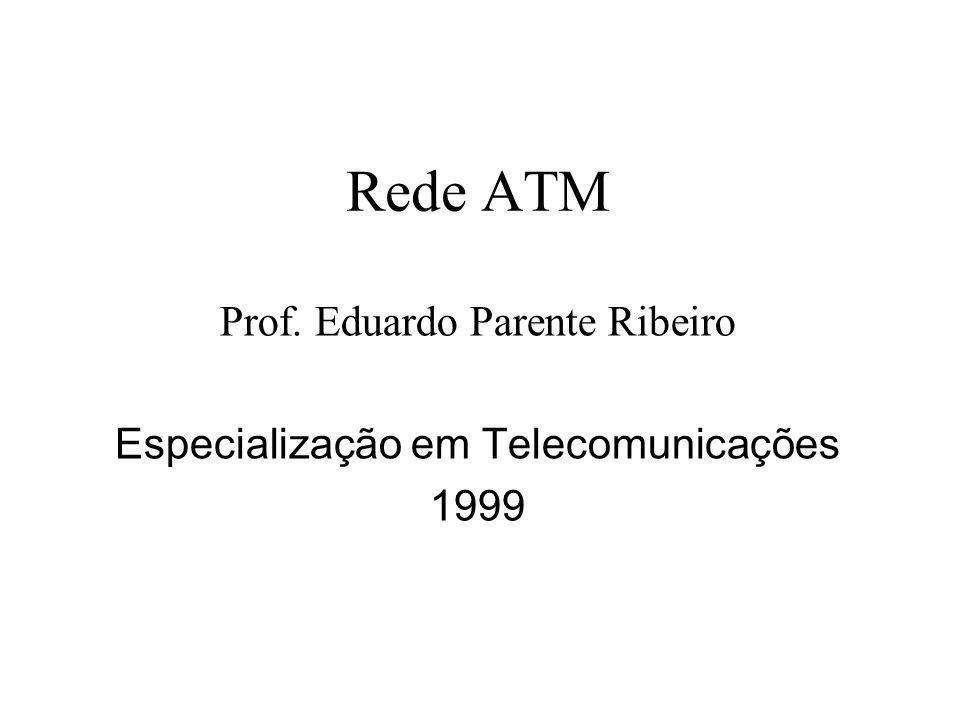 Rede ATM Prof. Eduardo Parente Ribeiro Especialização em Telecomunicações 1999