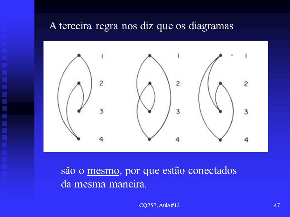 CQ757, Aula #1347 A terceira regra nos diz que os diagramas são o mesmo, por que estão conectados da mesma maneira.