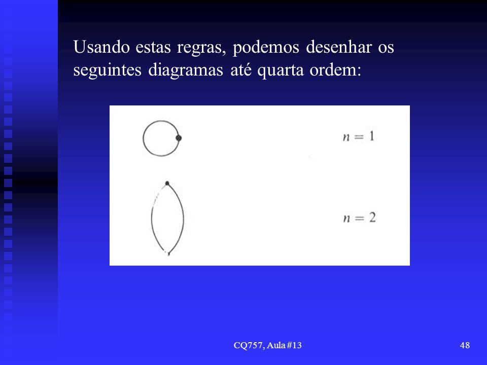 CQ757, Aula #1348 Usando estas regras, podemos desenhar os seguintes diagramas até quarta ordem: