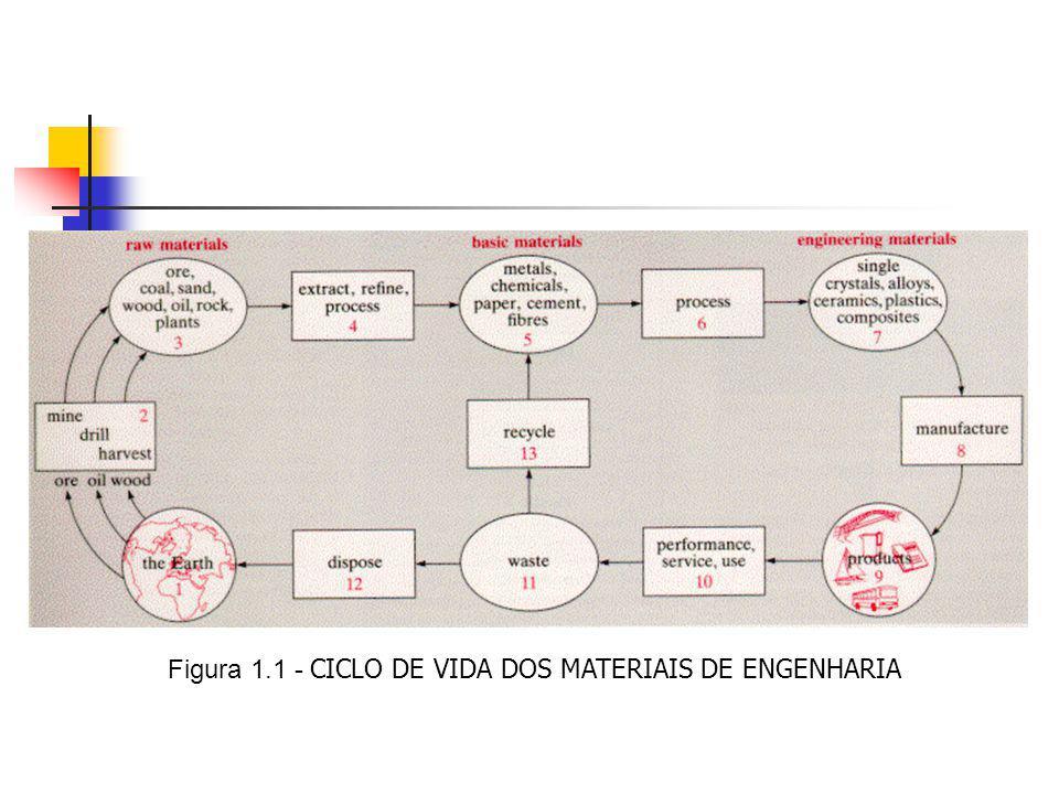 Processos que determinam o fim dos materiais Corrosão e degradação – Corrosão de metais – Corrosão de materiais cerâmicos – Degradação de polímeros Desgaste mecânico (estudado pela Tribologia) – Desgaste abrasivo – Erosão – Cavitação