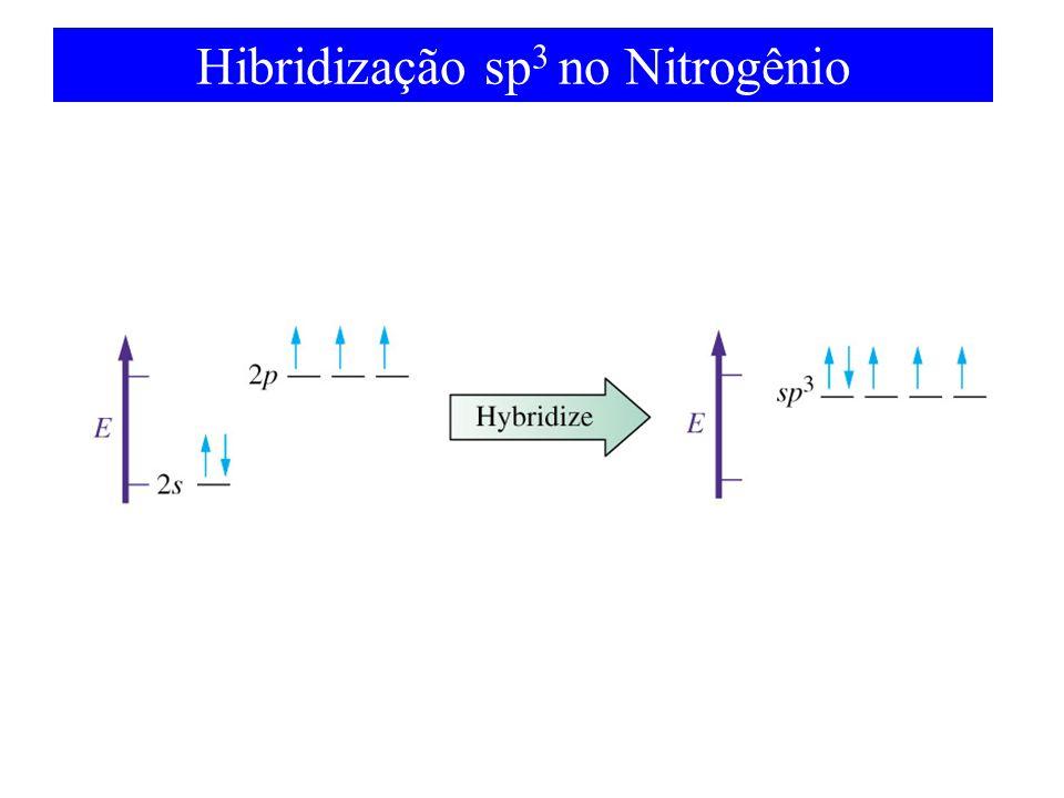 Hibridização sp 3 no Nitrogênio
