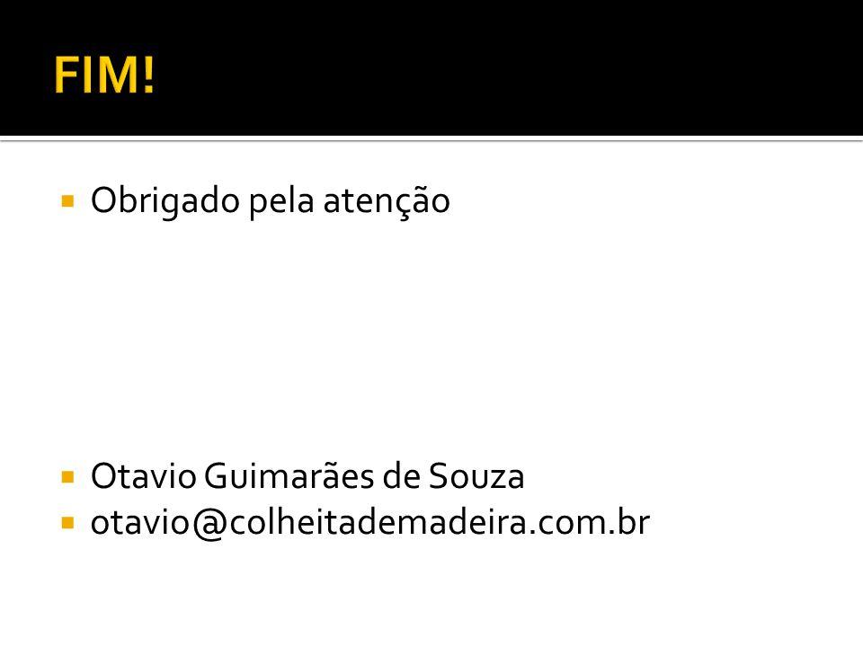 Obrigado pela atenção Otavio Guimarães de Souza otavio@colheitademadeira.com.br