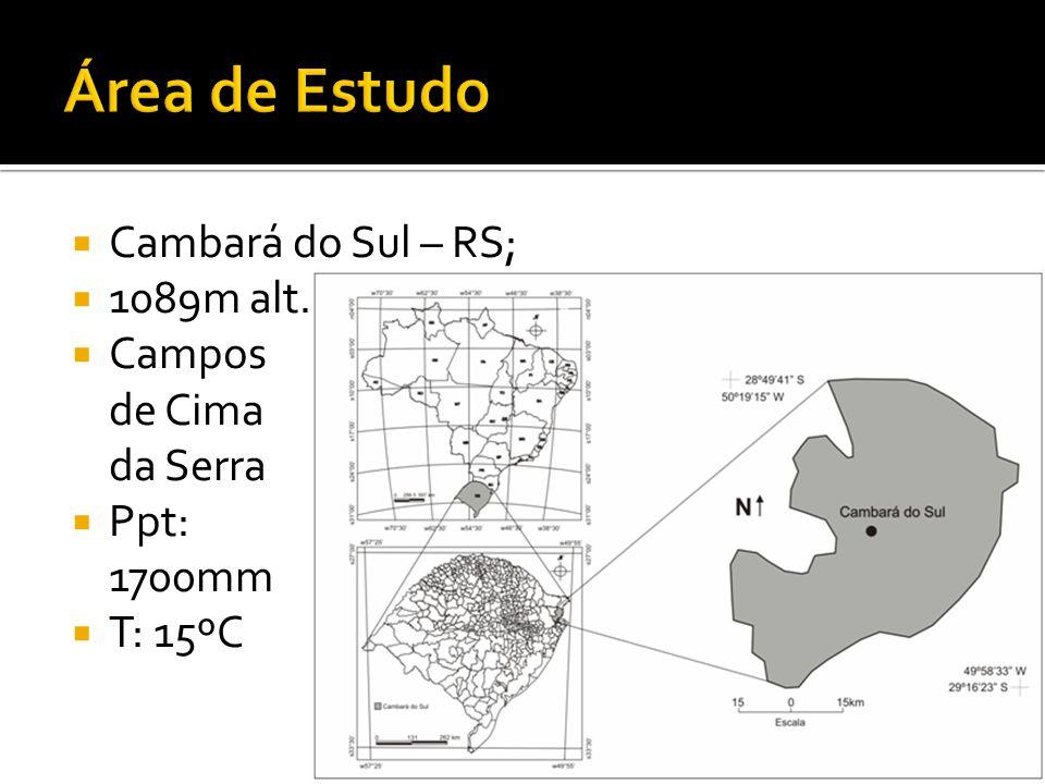 Cambará do Sul – RS; 1089m alt. Campos de Cima da Serra Ppt: 1700mm T: 15ºC