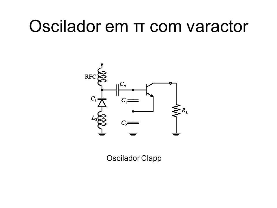 Oscilador em π com varactor Oscilador Clapp