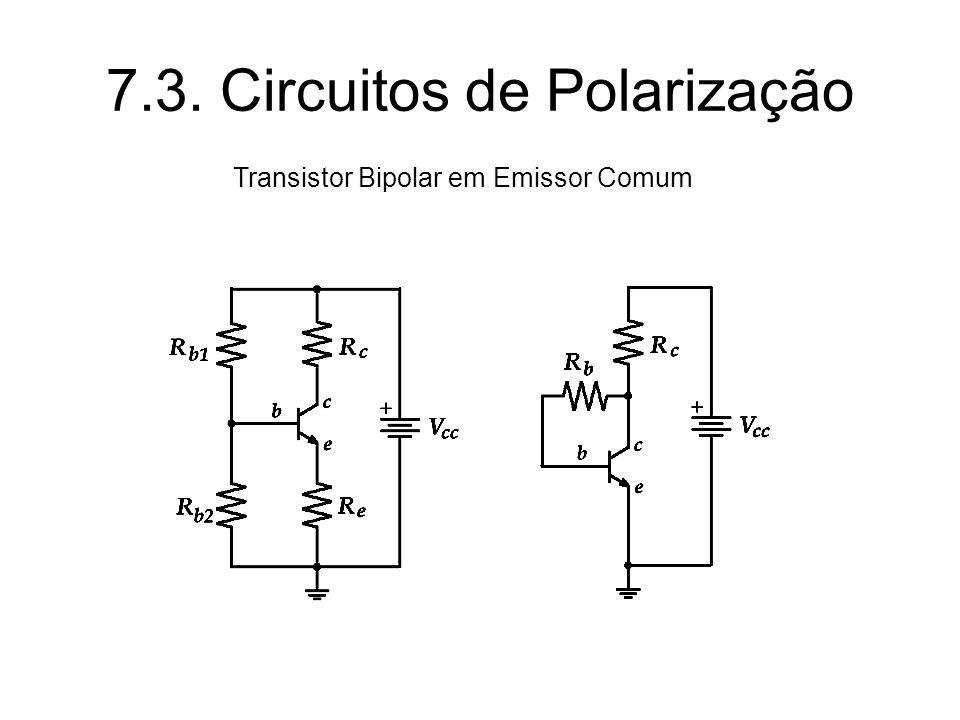 7.3. Circuitos de Polarização Transistor Bipolar em Emissor Comum