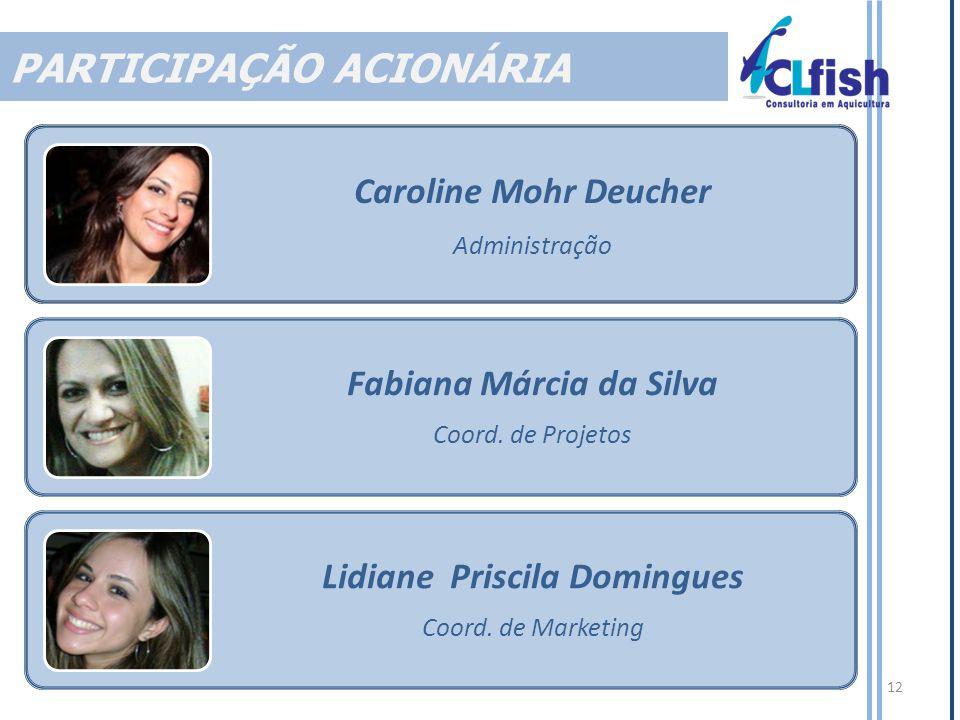 12 Caroline Mohr Deucher Administração Fabiana Márcia da Silva Coord.