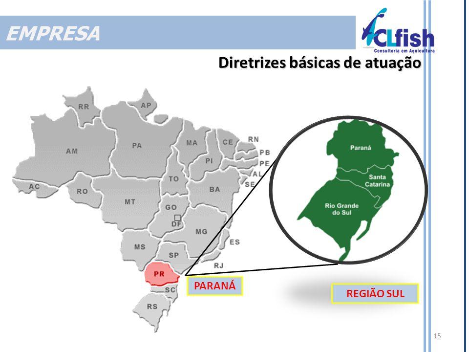 PARANÁ 15 Diretrizes básicas de atuação REGIÃO SUL EMPRESA
