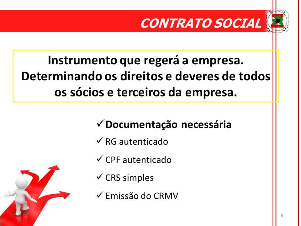 6 CONTRATO SOCIAL Instrumento que regerá a empresa.