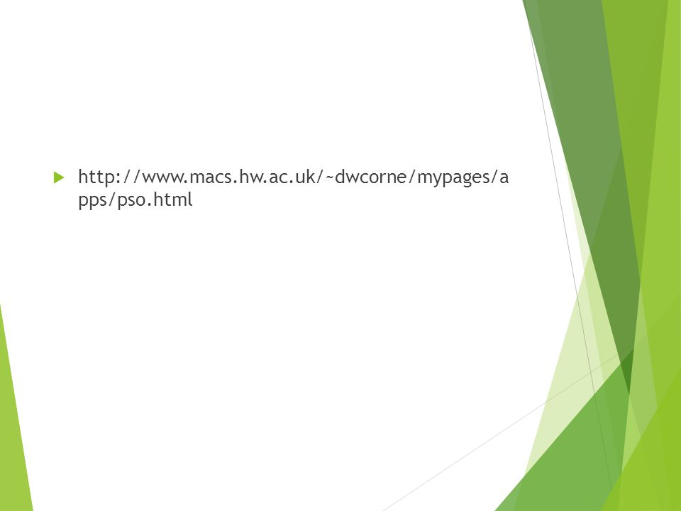 http://www.macs.hw.ac.uk/~dwcorne/mypages/a pps/pso.html