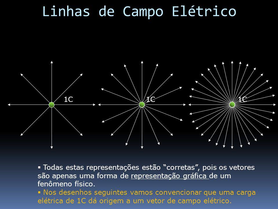 1C Todas estas representações estão corretas, pois os vetores são apenas uma forma de representação gráfica de um fenômeno físico. Nos desenhos seguin