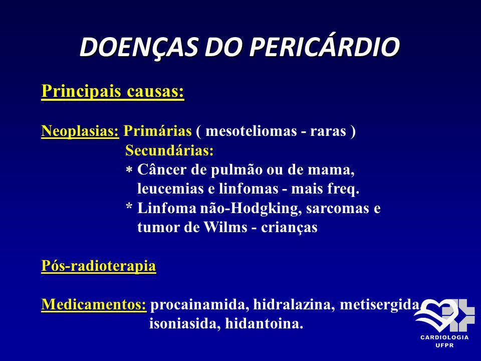 DOENÇAS DO PERICÁRDIO DOENÇAS DO PERICÁRDIO Pulso paradoxal