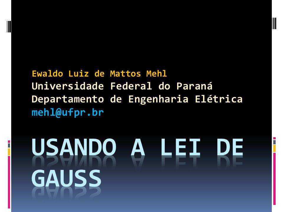 Usando a Lei de Gauss A GENDA Uso da Lei de Gauss para geometrias simétricas Fio infinito Chapa infinita carregada Esfera sólida: exterior e interior Duas placas com cargas iguais e opostas