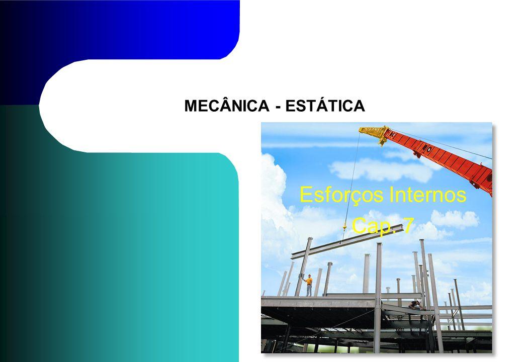 MECÂNICA - ESTÁTICA Esforços Internos Cap. 7