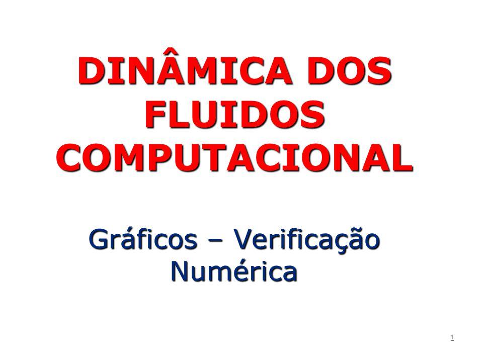 1 DINÂMICA DOS FLUIDOS COMPUTACIONAL Gráficos – Verificação Numérica