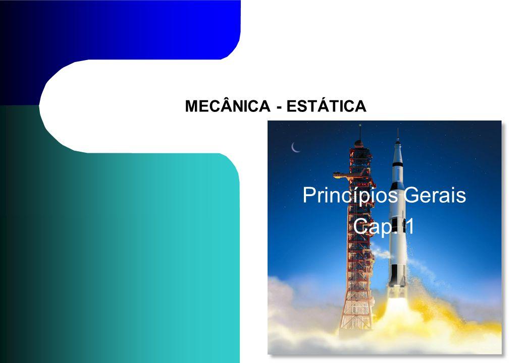 MECÂNICA - ESTÁTICA Princípios Gerais Cap. 1