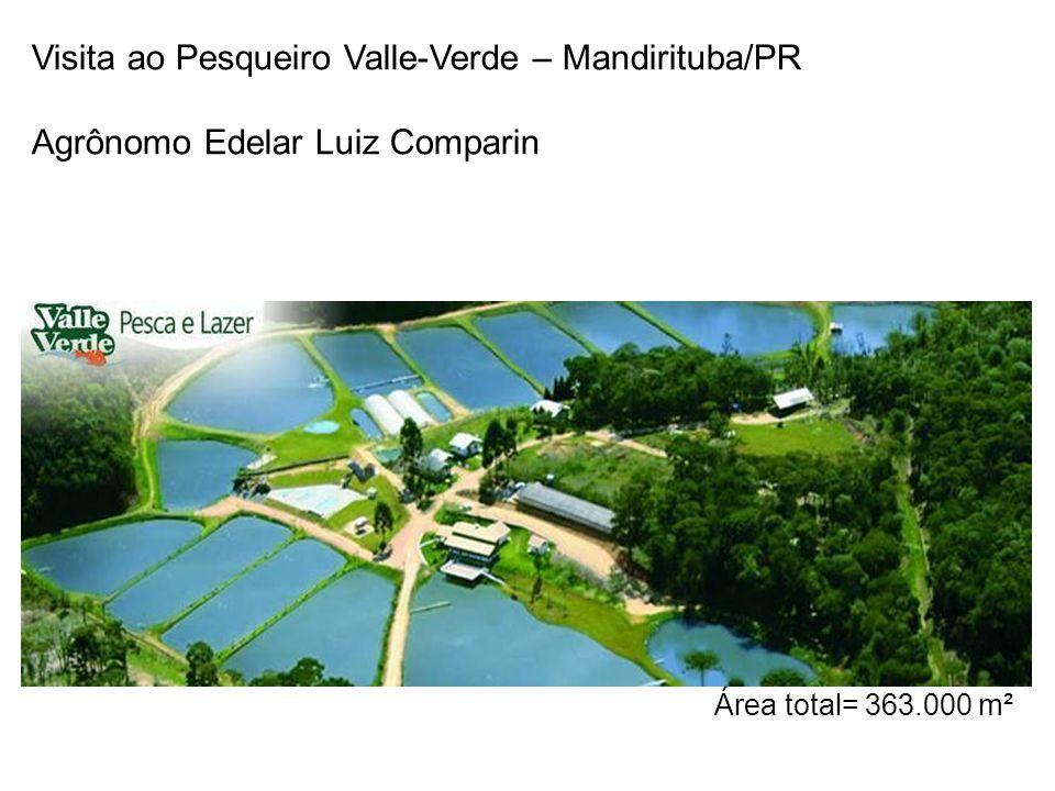 Visita ao Pesqueiro Valle-Verde – Mandirituba/PR Agrônomo Edelar Luiz Comparin Área total= 363.000 m²