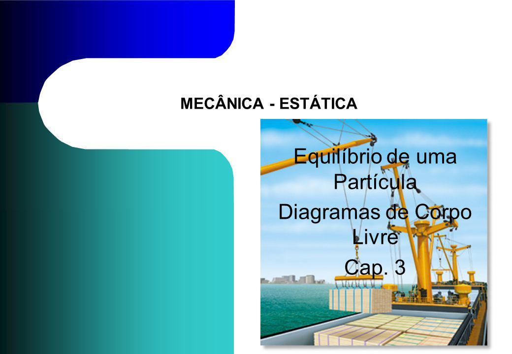 MECÂNICA - ESTÁTICA Equilíbrio de uma Partícula Diagramas de Corpo Livre Cap. 3