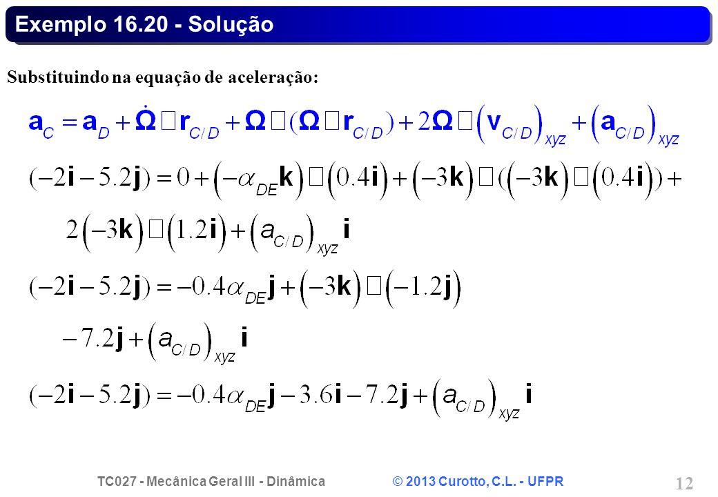 TC027 - Mecânica Geral III - Dinâmica © 2013 Curotto, C.L.