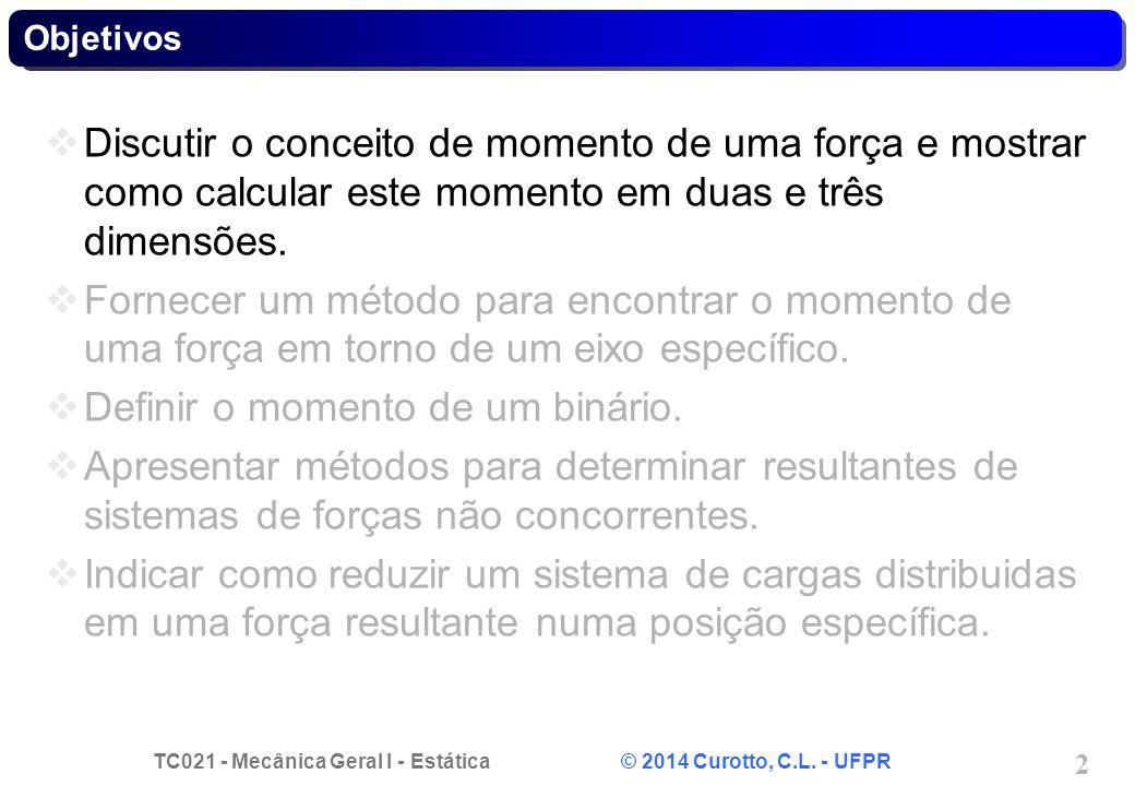 TC021 - Mecânica Geral I - Estática © 2014 Curotto, C.L. - UFPR 13 Problema 4.A - Solução