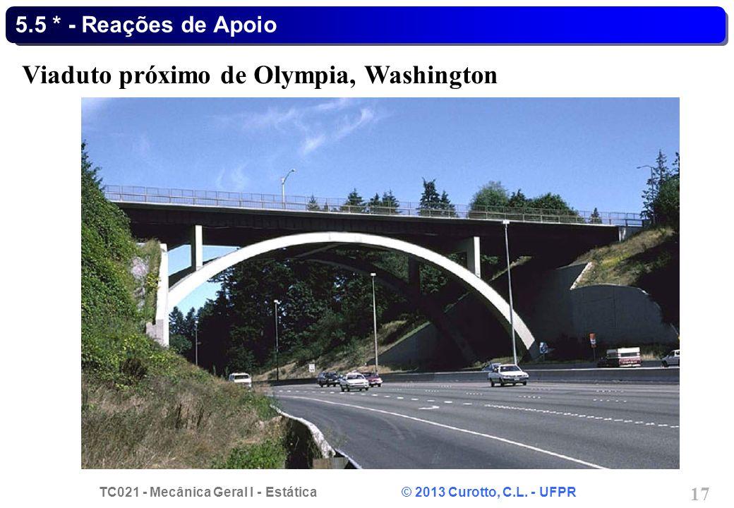 TC021 - Mecânica Geral I - Estática © 2013 Curotto, C.L. - UFPR 17 5.5 * - Reações de Apoio Viaduto próximo de Olympia, Washington
