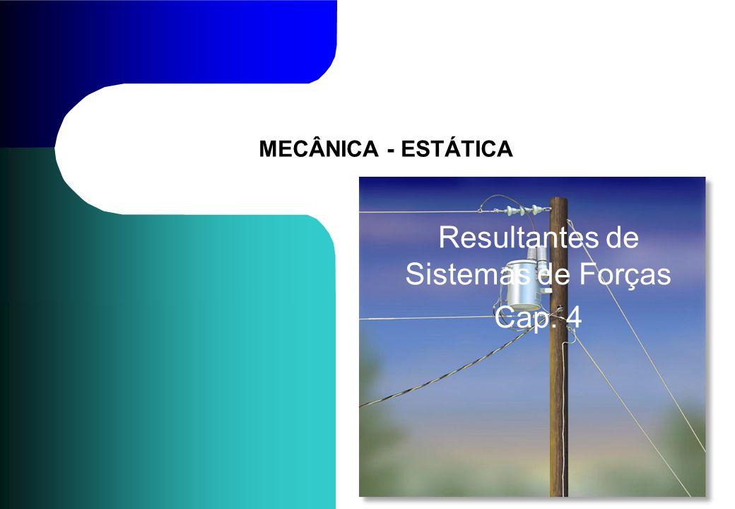 MECÂNICA - ESTÁTICA Resultantes de Sistemas de Forças Cap. 4