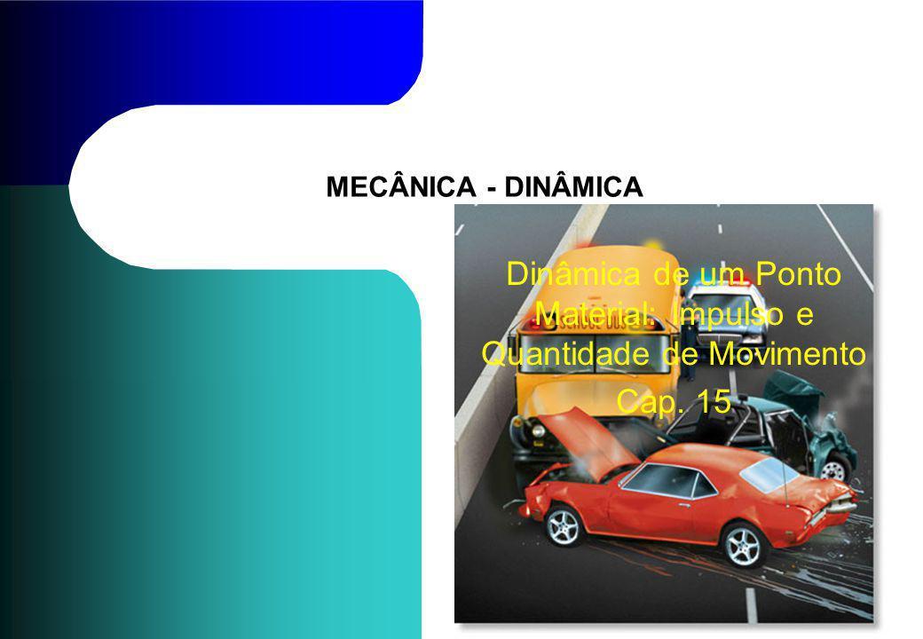 MECÂNICA - DINÂMICA Dinâmica de um Ponto Material: Impulso e Quantidade de Movimento Cap. 15