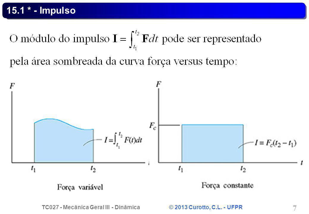 TC027 - Mecânica Geral III - Dinâmica © 2013 Curotto, C.L. - UFPR 7 15.1 * - Impulso