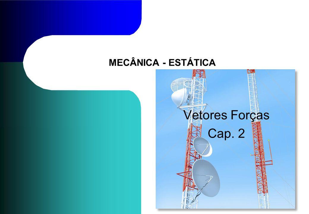 MECÂNICA - ESTÁTICA Vetores Forças Cap. 2