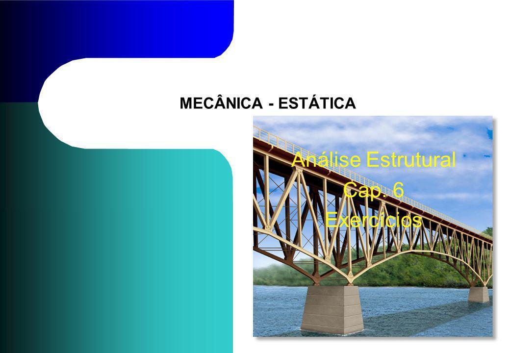 MECÂNICA - ESTÁTICA Análise Estrutural Cap. 6 Exercícios