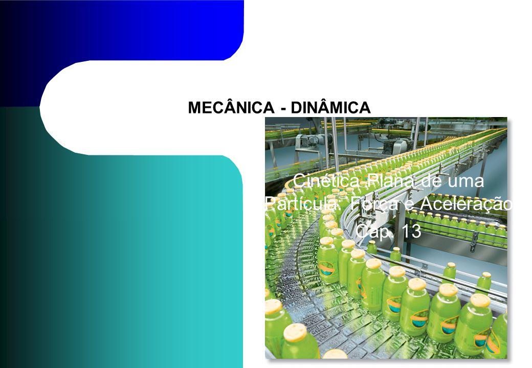 MECÂNICA - DINÂMICA Cinética Plana de uma Partícula: Força e Aceleração Cap. 13