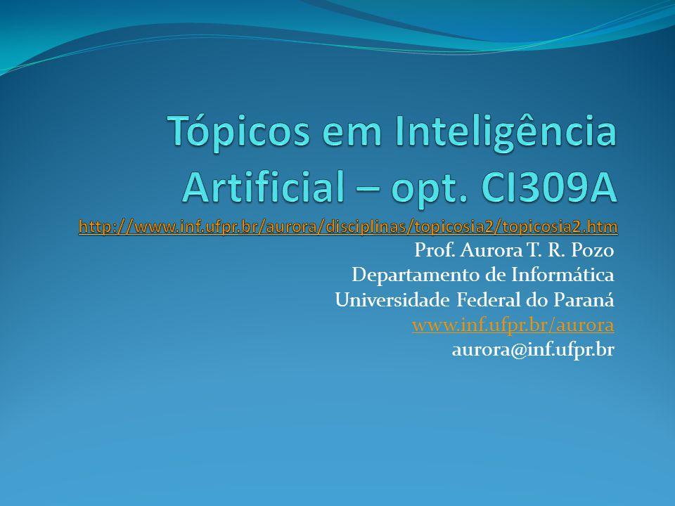 Prof. Aurora T. R. Pozo Departamento de Informática Universidade Federal do Paraná www.inf.ufpr.br/aurora aurora@inf.ufpr.br