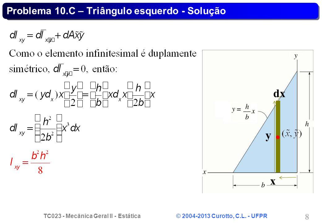 TC023 - Mecânica Geral II - Estática © 2004-2013 Curotto, C.L.