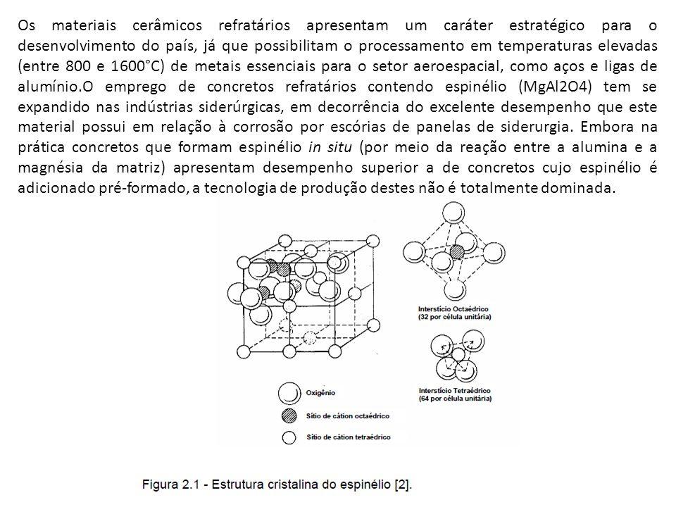 Os materiais cerâmicos refratários apresentam um caráter estratégico para o desenvolvimento do país, já que possibilitam o processamento em temperatur