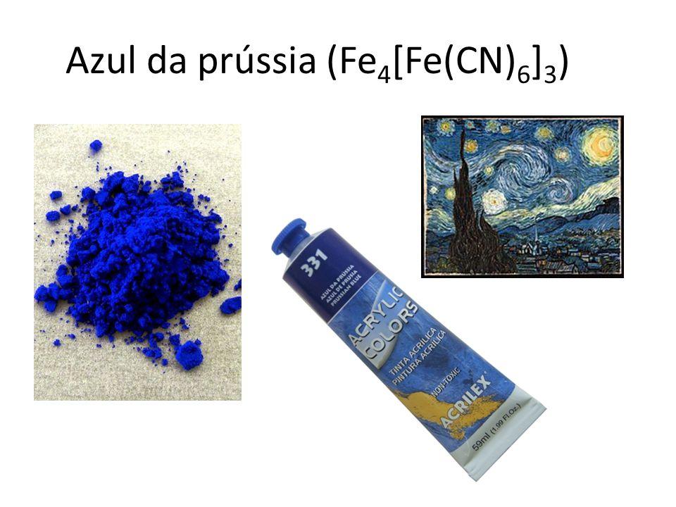 Azul da prússia (Fe 4 [Fe(CN) 6 ] 3 )