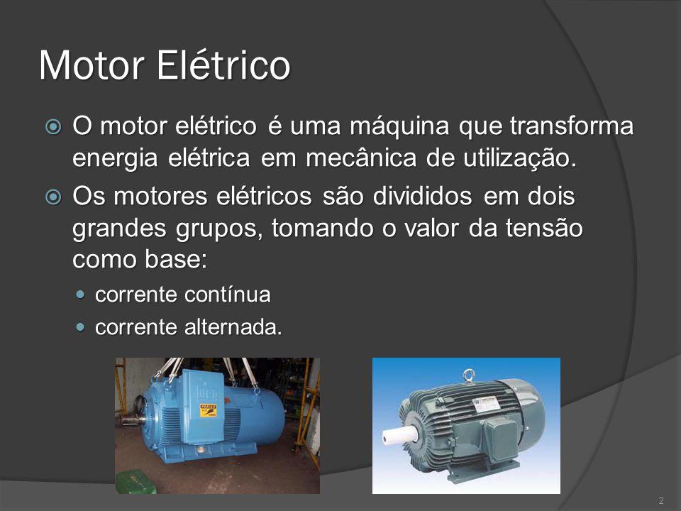 Motores CA Motor assíncrono Motor assíncrono No motor assíncrono ou de indução, o rotor possui vários condutores conectados em curto-circuito no formato de uma gaiola de esquilo.