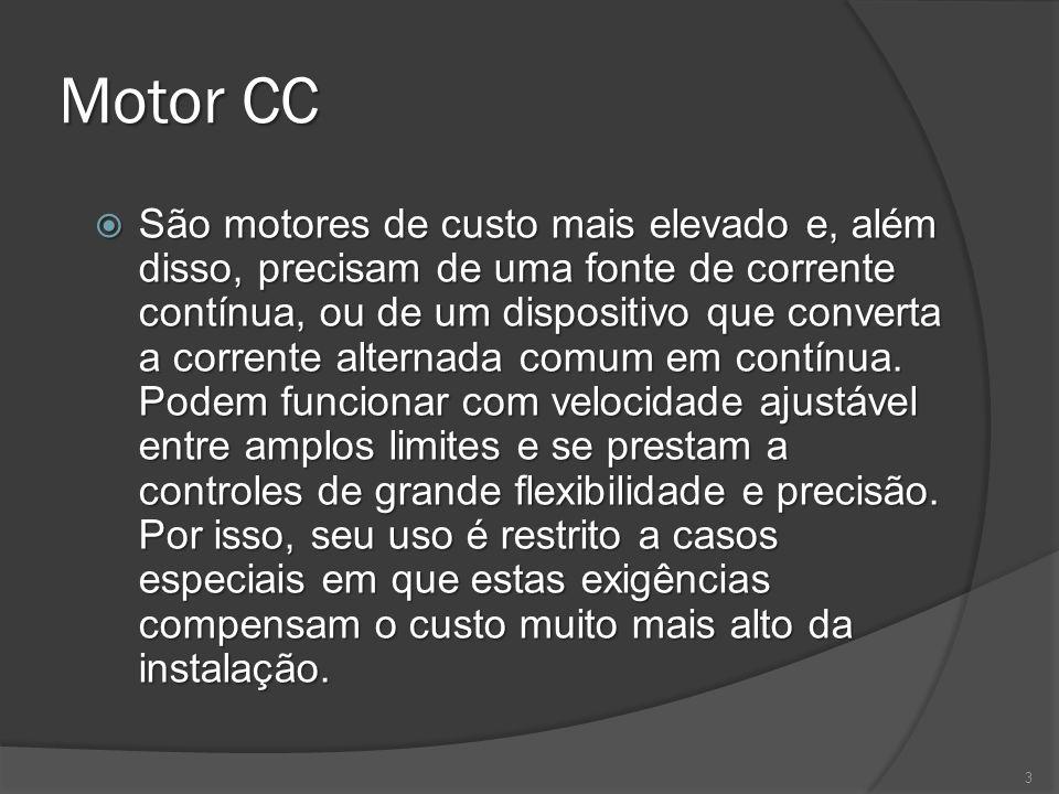 Motores CA Tensão nominal Tensão nominal As tensões de maior utilização em instalações elétricas industriais são 220, 380 e 440V.