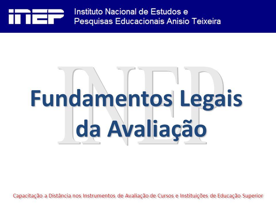Capacitação a Distância nos Instrumentos de Avaliação de Cursos e Instituições de Educação Superior Fundamentos Legais da Avaliação