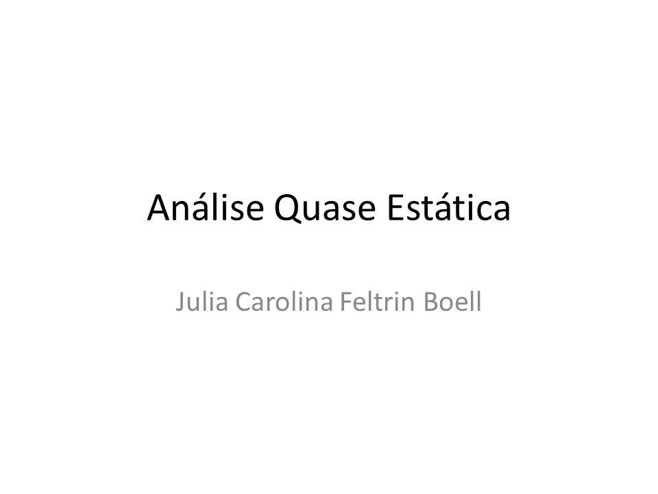 Análise Quase Estática Julia Carolina Feltrin Boell