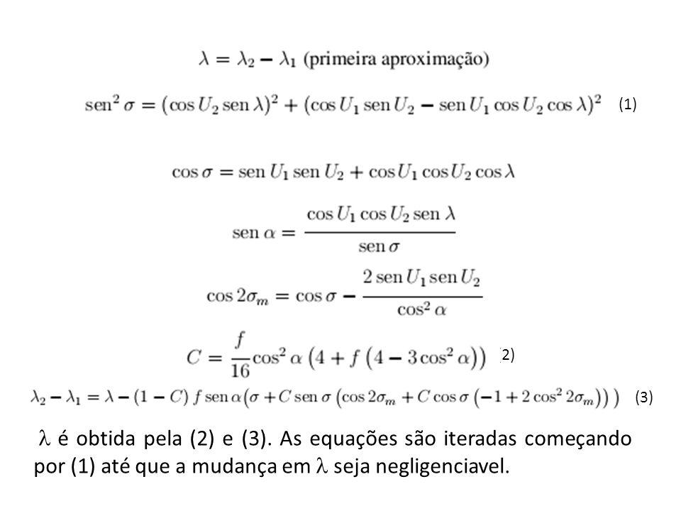 (1) (2) (3) é obtida pela (2) e (3). As equações são iteradas começando por (1) até que a mudança em seja negligenciavel.