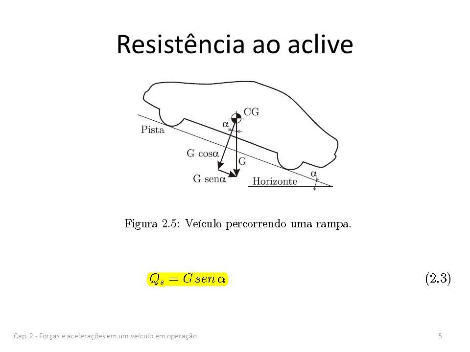 Resistência ao aclive 5Cap. 2 - Forças e acelerações em um veículo em operação