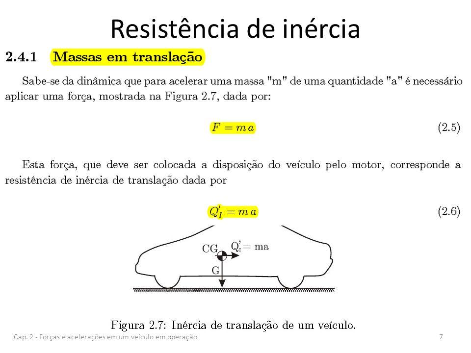 Resistência de inércia 7Cap. 2 - Forças e acelerações em um veículo em operação