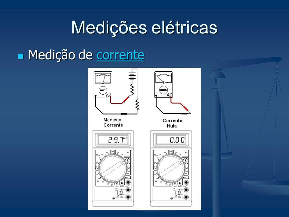 Medições elétricas Medição de corrente Medição de correntecorrente