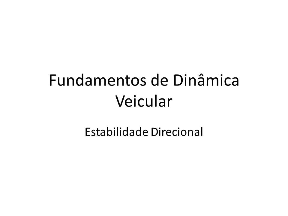 Fundamentos de Dinâmica Veicular Estabilidade Direcional