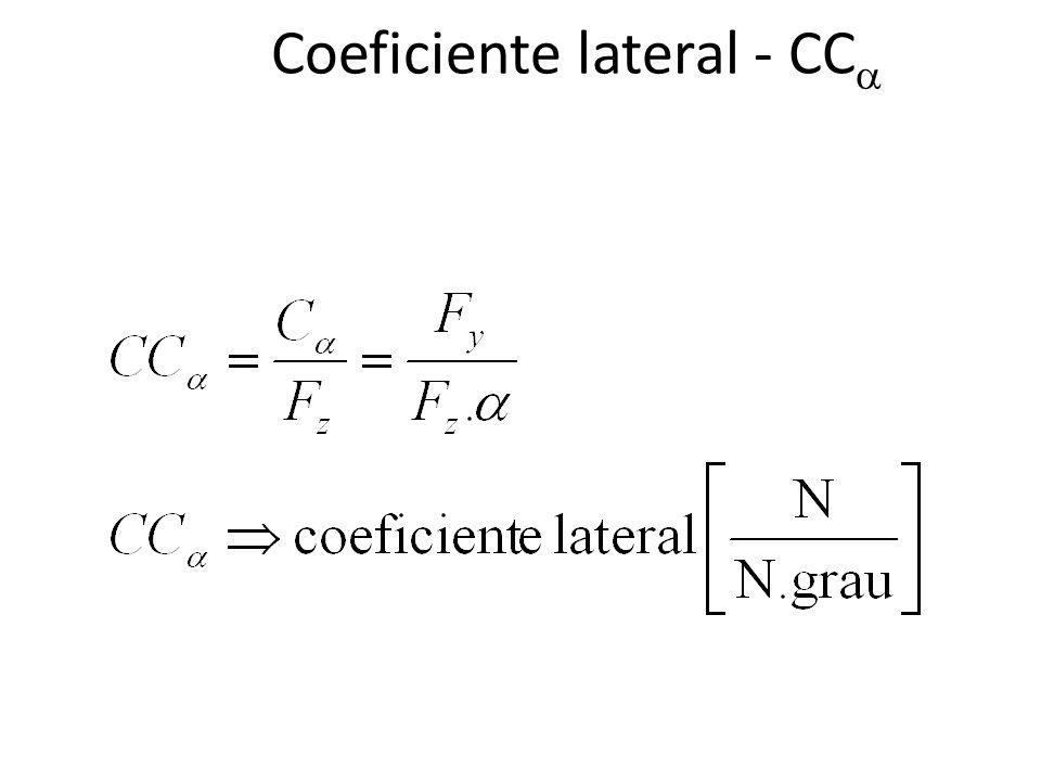Coeficiente lateral - CC