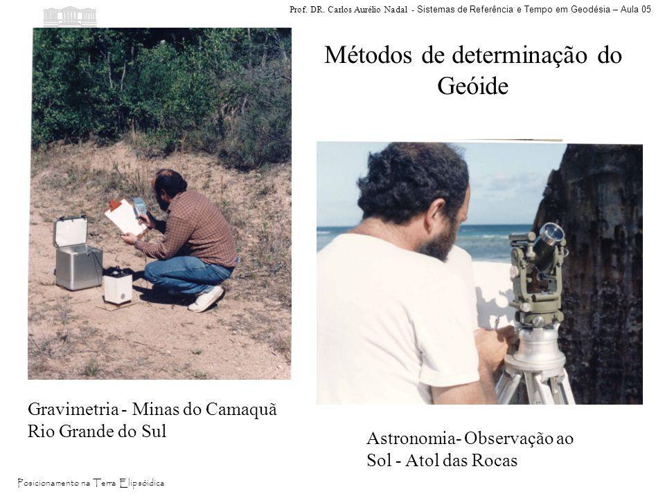 Prof. DR. Carlos Aurélio Nadal - Sistemas de Referência e Tempo em Geodésia – Aula 05 Posicionamento na Terra Elipsóidica Gravimetria - Minas do Camaq