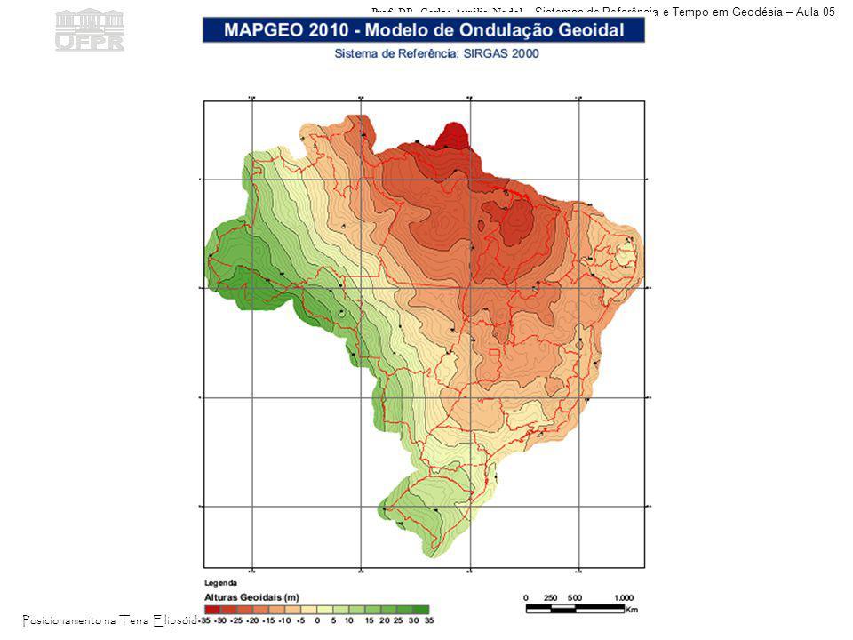 Prof. DR. Carlos Aurélio Nadal - Sistemas de Referência e Tempo em Geodésia – Aula 05 Posicionamento na Terra Elipsóidica