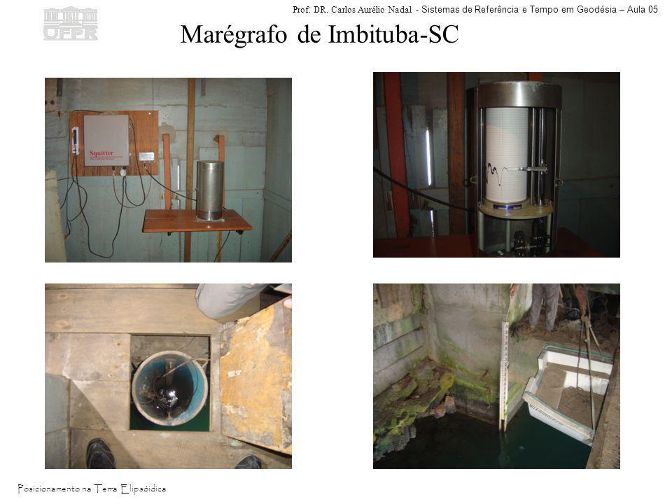 Prof. DR. Carlos Aurélio Nadal - Sistemas de Referência e Tempo em Geodésia – Aula 05 Posicionamento na Terra Elipsóidica Marégrafo de Imbituba-SC