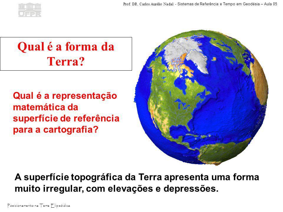 Prof. DR. Carlos Aurélio Nadal - Sistemas de Referência e Tempo em Geodésia – Aula 05 Posicionamento na Terra Elipsóidica Qual é a forma da Terra? A s